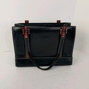 Vintage Kate Spade Tote Bag Black Leather Purse